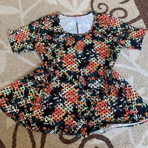 Lularoe Perfect Tee Floral 2XL